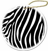Mesllings schwarz-weiße Zebrastreifen Tier-Print