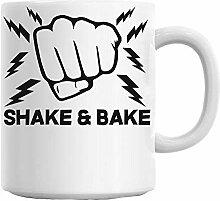 Mesllings Shake & Bake Tasse mit Slogan