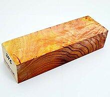 Messer aus stabilisiertem Ahornholz mit blankem