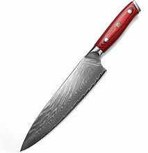 Messer Küchenmesser 8-Zoll-Kochmesser Damaskus
