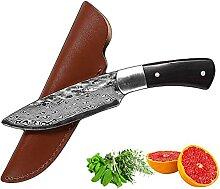 Messer Messer Fixed Blade Damaskus Muster Outdoor