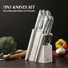 Messer set 7 in 1 Messer für Küchenchef Koch
