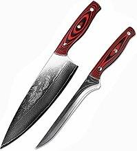 Messer Set für Köche 2 Stücke Damaskus Messer