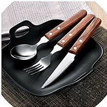 Messer und Gabel westlichen Stil Holzgriff Steak