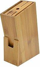 Messerblock Natürliche Bambus Messer Blockhalter