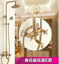 Messing antik Badezimmer Regendusche Wasserhahn mit Dusche Robuste Konstruktion aus Messing Wasserhahn Set, Gelb
