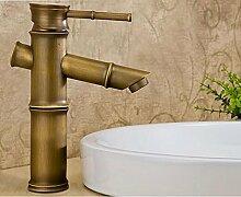 Messing antik Bamboo Waschbecken Wasserhahn