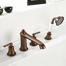 Messing Badewanne Wasserhahn/Kupfer Brausebatterie/Zylinder thermostatischen Armatur Kit-B
