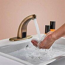 Messing Chrom Warmes und kaltes Wasser Antik