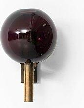 Messing & Glas Wandlampe von Hans-Agne Jakobsson,