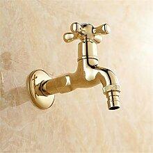 Messing Gold Fertig Bibcock Wasserhahn,