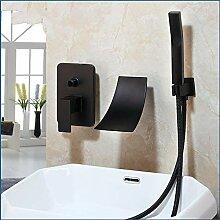 Messing schwarz Duschset Badezimmer Wasserhahn