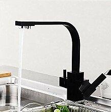 Messing schwarz Küchenarmatur mit gefiltertem