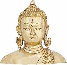 Messing Skulptur Buddha Büste Statue für