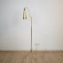 Messing Stehlampe mit Dreibein Fuß, 1950er