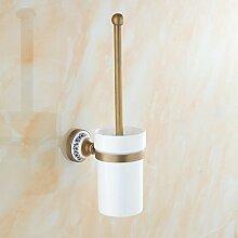 Messing Toilettenbürstenhalter Mode Bad-Accessoires Keramik Tasse