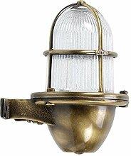 Messing Wandlampe IP64 Maritim Wand außen Premium