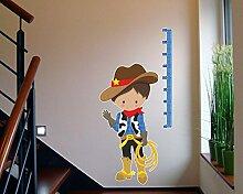 Messlatte Cowboy Wandtattoo Kinderzimmer Metermaß Maßband