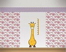 Messlatte Giraffe Wandtattoo Kinderzimmer Metermaß Maßband