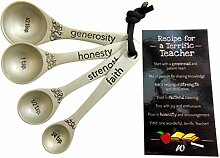 Messlöffel-Set für Lehrer, mit Rezeptkarte,