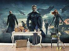 Mestgs 3D-Wandbild-Fototapete American Hero Movie