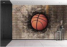 Mestgs 3D-Wandbild-Fototapete Kunstsportbasketball