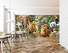 Mestgs 3D-Wandbild-Fototapete Tierwald Panda