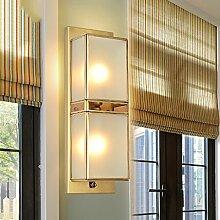 Met Love Alle - Kupfer Wandleuchte Gang Korridor Balkon Lichter Veranda Schlafzimmer Außenleuchte Nachttischlampe Wohnzimmer Kreative Wandleuchte E14