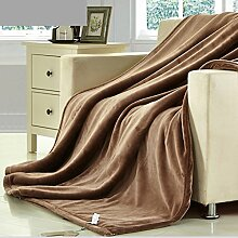 Met Love Einfarbig Decke Hause Warme Decke Büro Nap Decke Wohnzimmer Decke Freizeitdecke Polyester Material ( Farbe : Khaki , größe : 200*230cm )