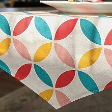 Met Love Farbgitter Blumenmuster Tuch Tischläufer Modern Einfache Mode Upscale Wohnzimmer Küche Restaurant Hotel Heimtextilien (Dieses Produkt verkauft nur Tischläufer) 35 * 180cm