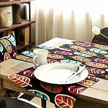 Met Love Farbige Blätter Blütenmuster Tuch Tischläufer Modern Einfache Mode Upscale Wohnzimmer Küche Restaurant Hotel Heimtextilien (Dieses Produkt verkauft nur Tischläufer) 35 * 160cm