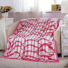 Met Love Rosa Striped Warme Decke Schlafzimmer Bettdecke Decke Freizeitdecke Reise Decke Polyester Material ( größe : 150*200cm )