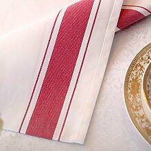 Met Love Serviette Tuch Wiping Tuch Cup Mund Stoff Wasser Absorption Hotels Tuch Kunst Serviette Gingham Für das Abendessen Alltagsgebrauch 6 PCS / Set ( Farbe : C )