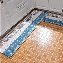 Met Love Teppich Die Tür Halle Türmatten Küche Ottomans Badezimmer Anti-Rutsch Wasserabsorption ölbeständig Haushalt Badematten Erdmatten ( größe : 45*120+50*180cm )