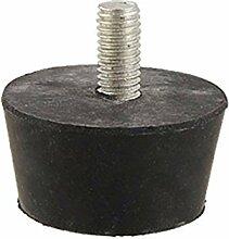 Metaal schroefdraad 8mm Diameter Black Rubber Gebaseerd voe