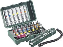 """Metabo Bit-Box """"SP""""+ Taschenlampe, 29 Stück,"""