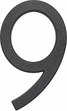 Metafranc Hausnummer 9 - Leichtmetall - schwarz -
