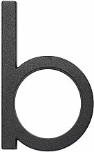 Metafranc Hausnummer b - Leichtmetall - schwarz -