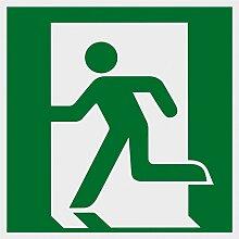 Metafranc Hinweisschild Symbol: Notausgang links -