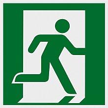Metafranc Hinweisschild Symbol: Notausgang rechts