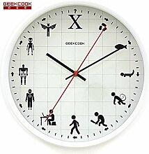 Metal Clock Tisch Mute Modern Living Zimmer Features Creative Fashion Clock