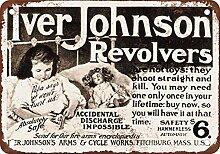 metal Signs 1904Iver Johnson Revolver Vintage