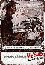 metal Signs 1944de Soto und Cowboys Vintage Look