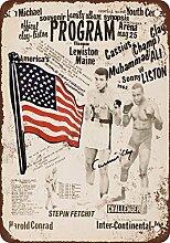 metal Signs 1965Muhammad Ali Vs. Sonny Liston