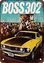 metal Signs 1969Mustang Boss 302Vintage Look