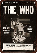 metal Signs 1969The Who in Newcastle Vintage