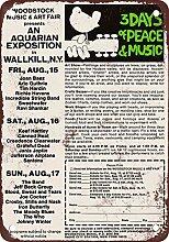 metal Signs 1969Woodstock Original Wallkill