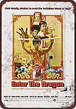 metal Signs 1973 Bruce Lee Enter The Dragon