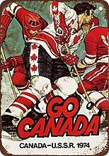 metal Signs 1974Kanada Vs. UDSSR Hockey Vintage