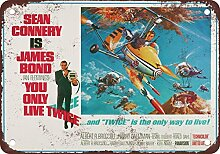 metal Signs James Bond You Only Live Twice Vintage